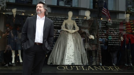 Showrunner Ronald D. Moore unveils an exhibit of costumes from the first season of the STARZ Original Series
